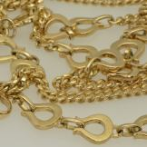 18ct yellow gold hand made chain